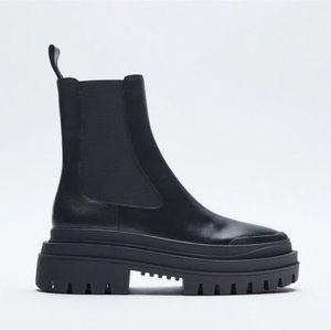 Zara Leather Chelsea Boots